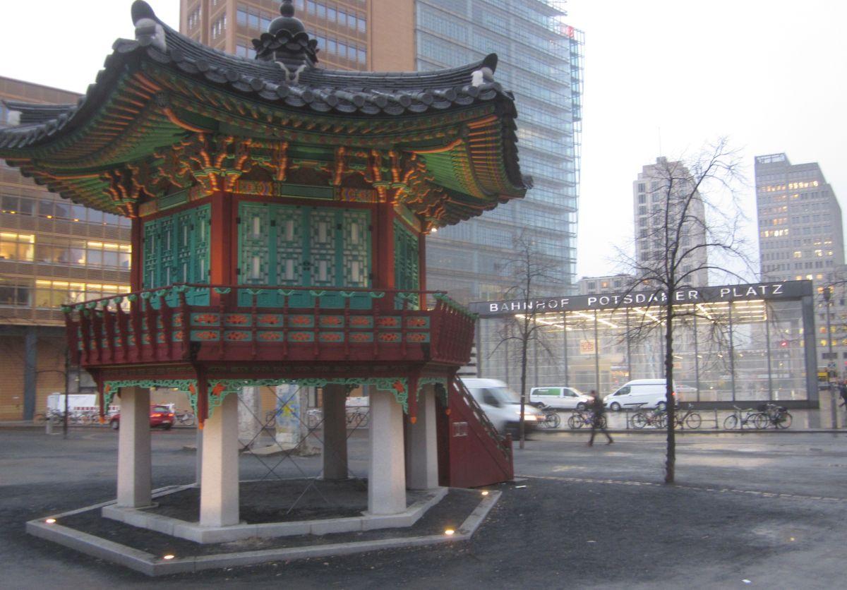 Koreanischer Pavillion der Einheit am Potsdamer Platz im Januar 2017